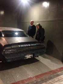 Nicholas Metivier and John Scott see the car for the first time at the AGH